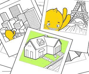 Huizen, Steden en Monumenten kleurplaten